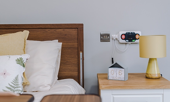 Bedside Table and Wireless Alert System